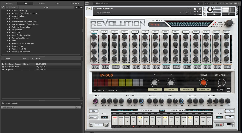 revolution 14 iconic drum machines in one virtual instrument. Black Bedroom Furniture Sets. Home Design Ideas