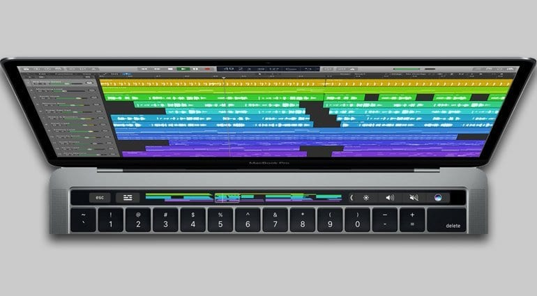 Apple Logic Pro X and MacBook Pro Touch Bar