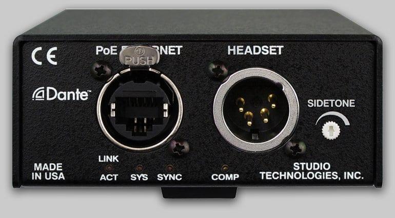 Studio Technologies Model 371 Intercom (Back)
