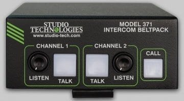 Studio Technologies Model 371 Intercom (Front) Dante Comms