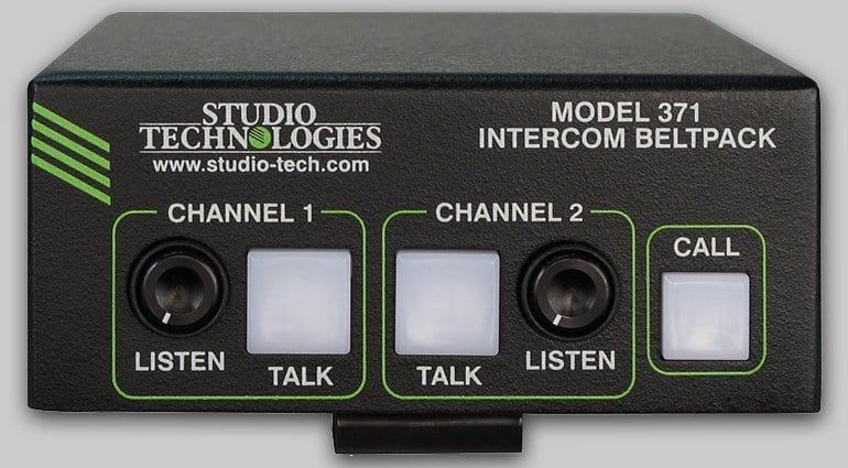 Studio Technologies Model 371 Intercom (Front) Dante Comms