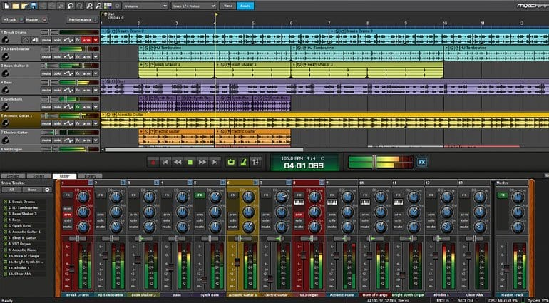 Acoustica Mixcraft 8 arrange and mixer