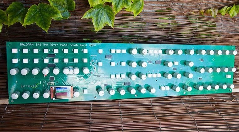 Baloran The River polyphonic synthesizer PCB