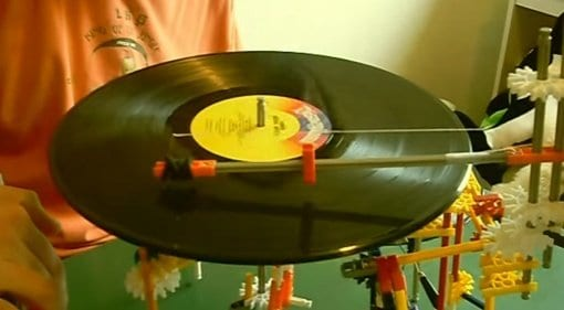 knex vinyl diy record player
