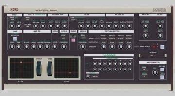 Korg MicroKorg MIDI Editor