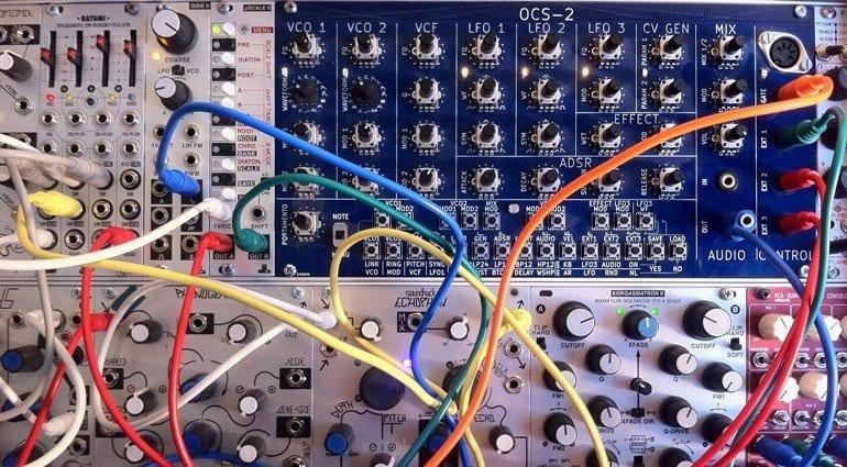 Nozoid OCS-2 synthesizer in a modular case