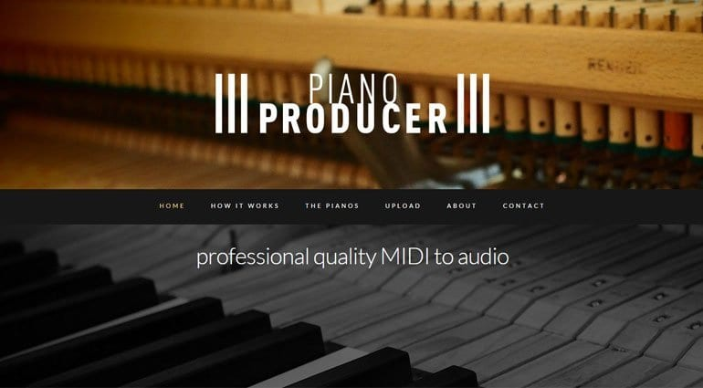 Piano Producer records MIDI files with the piano of your