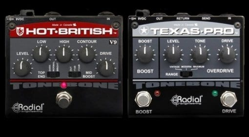 Radial Hot British V9 Texas Pro pedals
