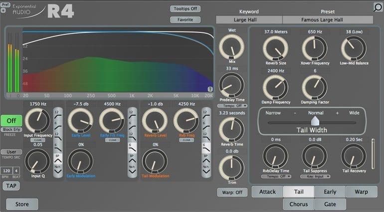 Exponential Audio R4 Reverb Plug-in