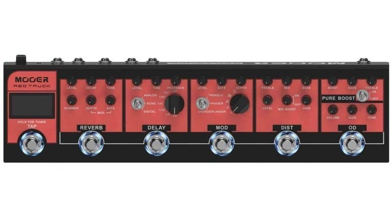 Mooer Red Truck Multi Effect Pedal Front