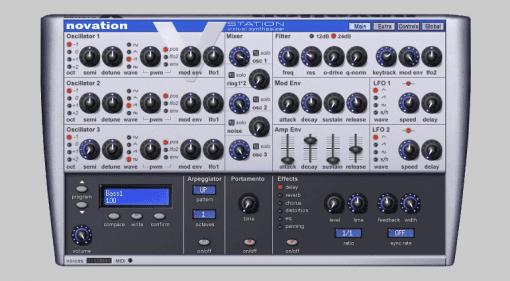 Novation V-Station Plugin Instrument Synthesizer GUI