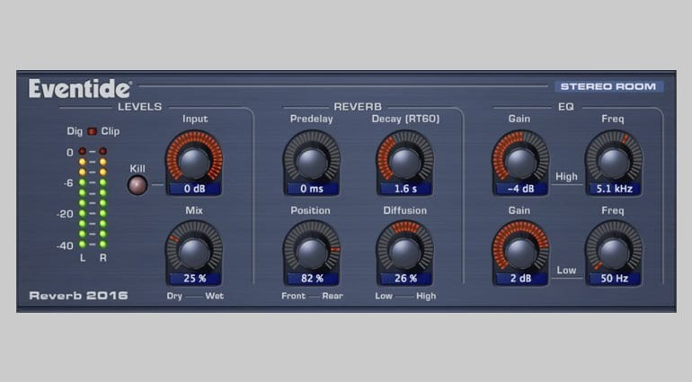 PreSonus Studio Magic Eventide Stereo Room