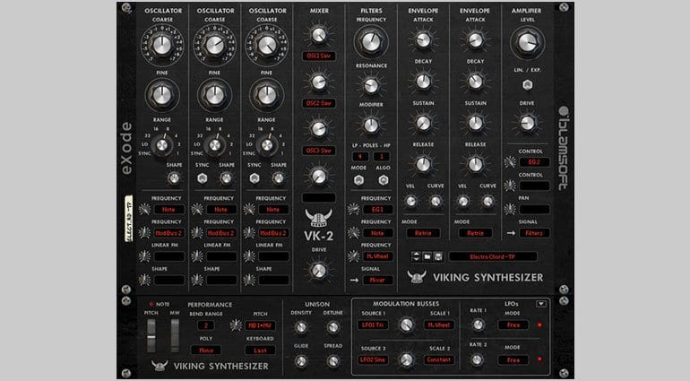 Blamsoft VK-2 Viking synthesizer