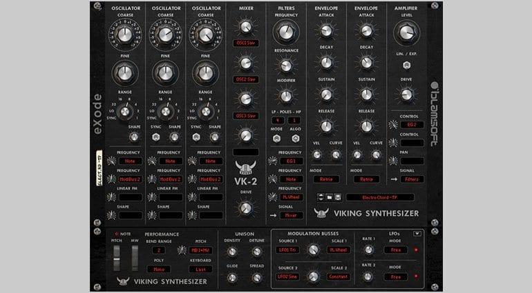 Blamsoft VK-2 Viking synthesizer