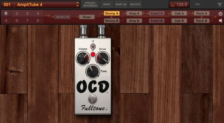 Fulltone OCD in Amplitube