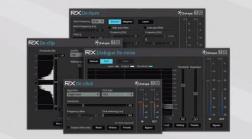 iZotope RX Plug-In Bundle GUI Screenshot