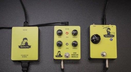 Lightning Boy II CH2 SideCar Power Supply Audio FX guitar 12AX7