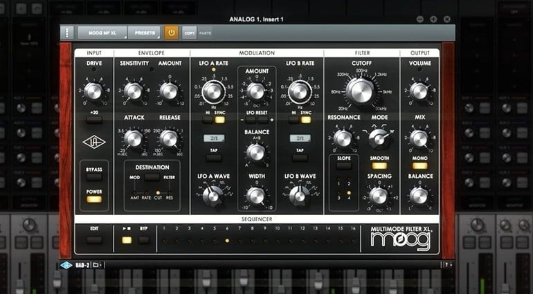 UAD 9.1 Moog Multimode Filter Collection