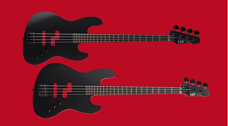 Anthrax ESP Frank Bello Signature J-4 Custom Shop and LTD FB-J4 bass guitars