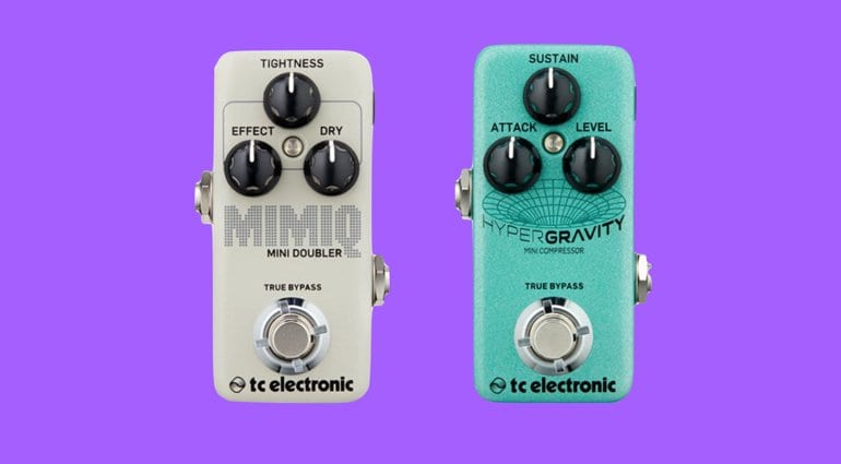 TC Electronics Mimic Mini Doubler and Mypergravity Mini Compressor pedals