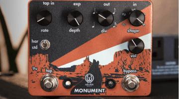 Walrus Audio Monument Harmonic Tap Tremolo pedal front