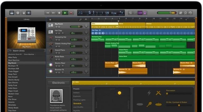 GarageBand Macbook Pro GUI Apple