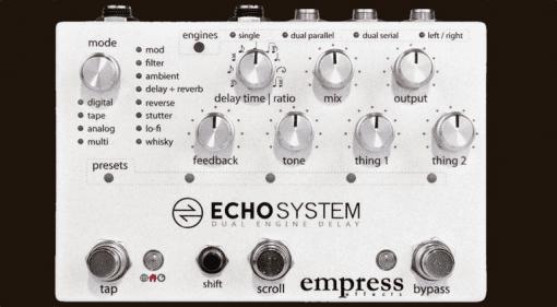 Empress Effects Echosystem delay pedal