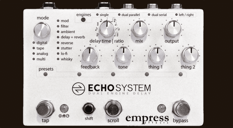 Empress Effects Echosystem delay pedal