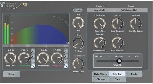 Exponential Audio's R2 reverb plug-in