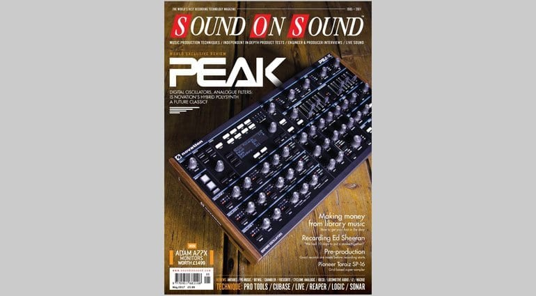 Novation Peak - SOS May 2017 cover