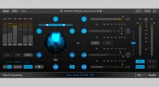 Nugen Audio Halo Downmix user interface