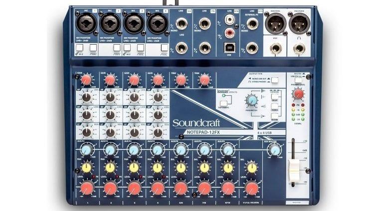 Soundcraft Notepad-12FX mixer/USB interface