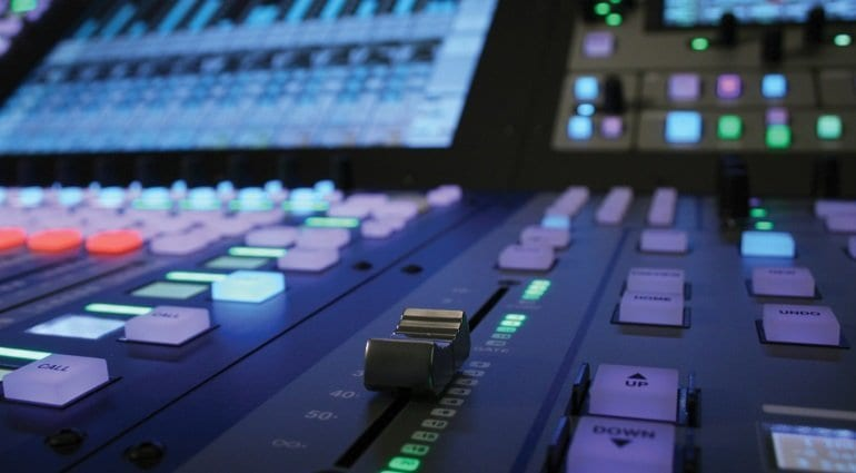 SSL L200 live mixing console controls closeup