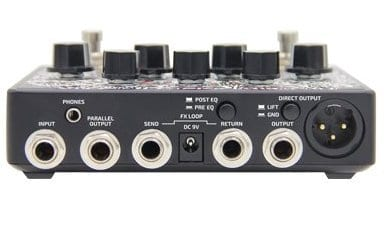 Hotone Audio B Station Bass preamp and DI rear panel