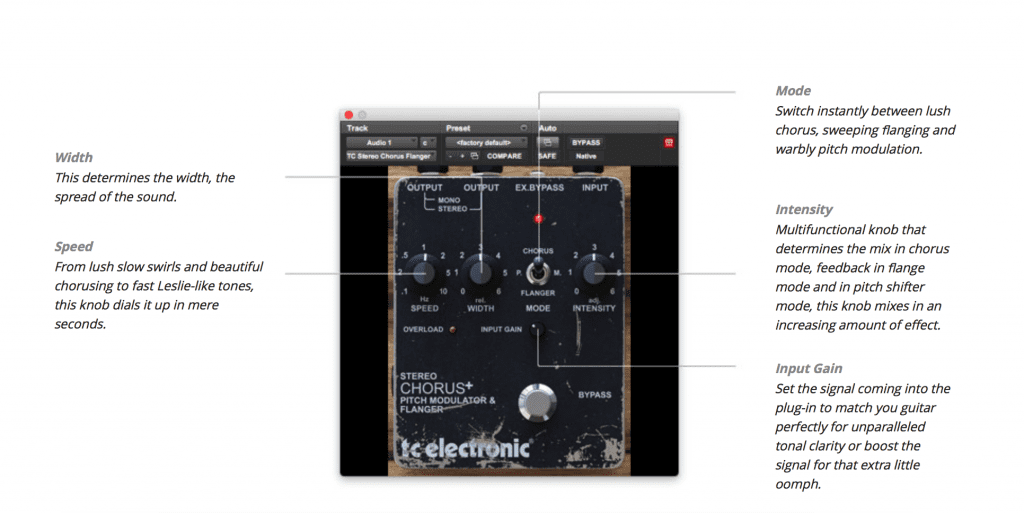 TC Electronics Vintage Guitar Pedal Native Plug-in Bundle