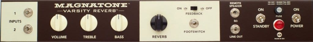 VarsityReverb control panel