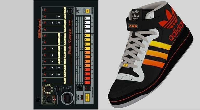Adidas TR-808 sneakers are not real – it's just for fun!