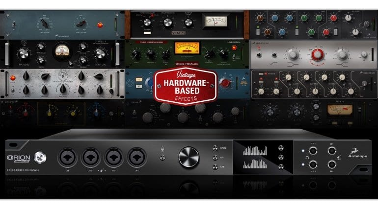 Antelope Audio Orion Studio HD front interface and effects