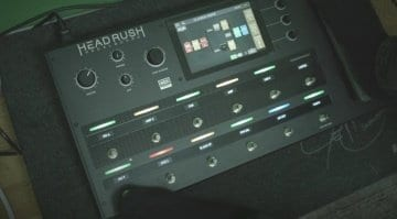 The new Headrush pedalboard multi effects and amp simulations