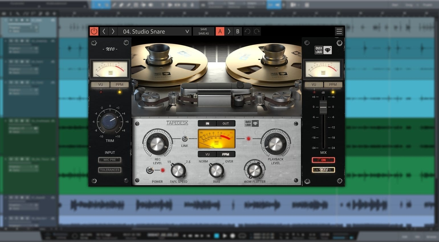 Overloud's Tapedesk: A new standard for analogue sound in