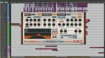 Psychic Modulation EchoMelt plug-in interface