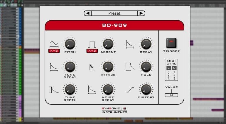 Synsonic BD-909 free plug-in