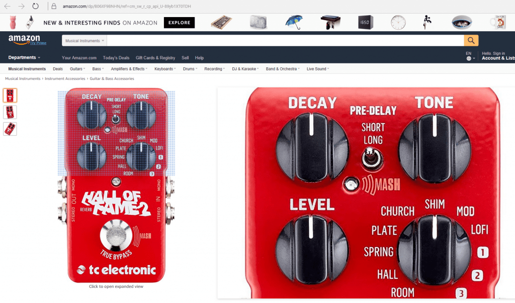 TC Electronics new Hall Of Fame 2 leaked on Amazon