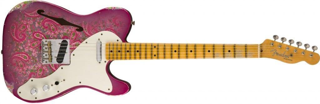 Fender 2017 LTD 50's Tele Thinline Relic Pink Paisley