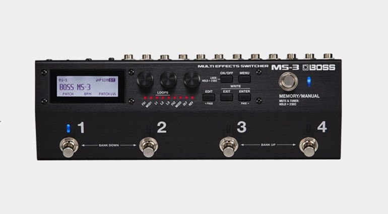 boss ms 3 multi effects switcher combines internal fx with your favourite pedals. Black Bedroom Furniture Sets. Home Design Ideas