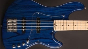 Cort GB74JJ AB Swamp Ash Bass in Aqua Blue