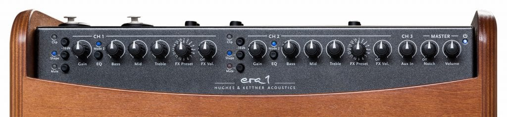 Hughes & Kettner Era-1 acoustic amp control panel