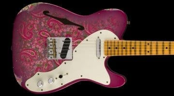 Fender Custom Shop 2017 LTD 50's Tele Thinline Relic Pink Paisley