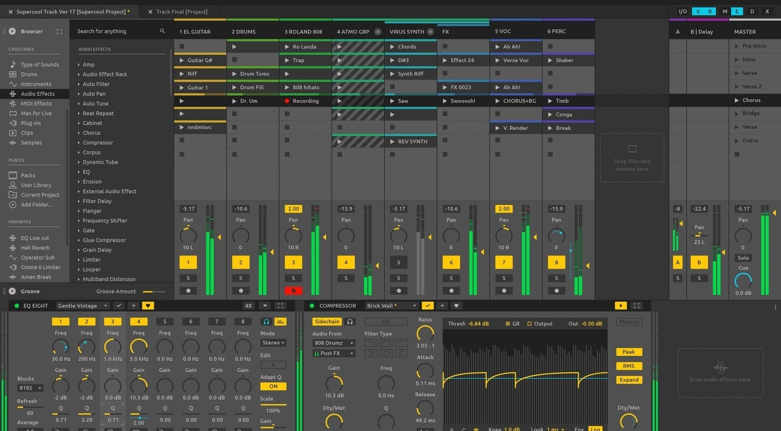 how to zoom in on ableton live 9