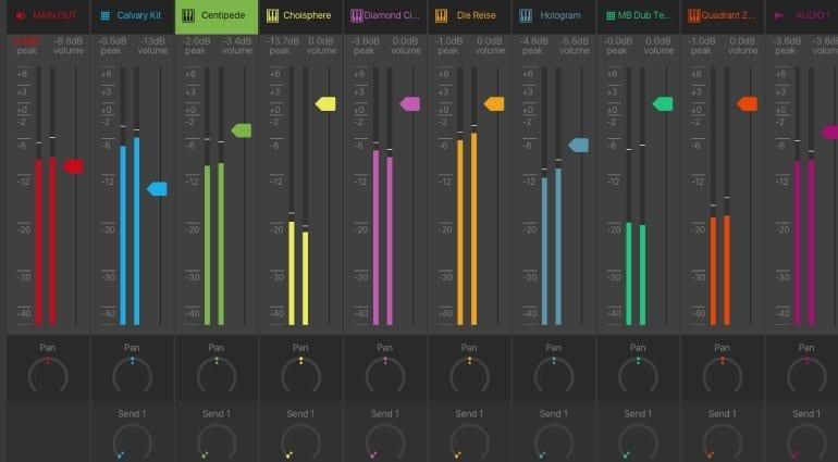 BeatMaker 3's mixer